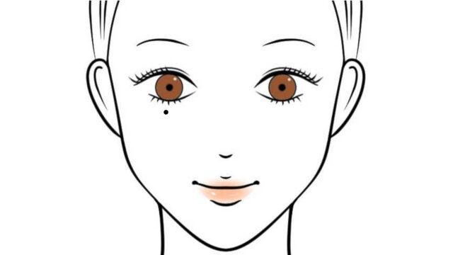 右目の下に泣きぼくろがある女性