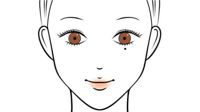 左目の下に泣きぼくろがある女性