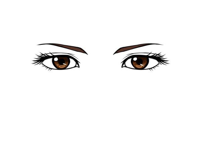 茶色の目 女性