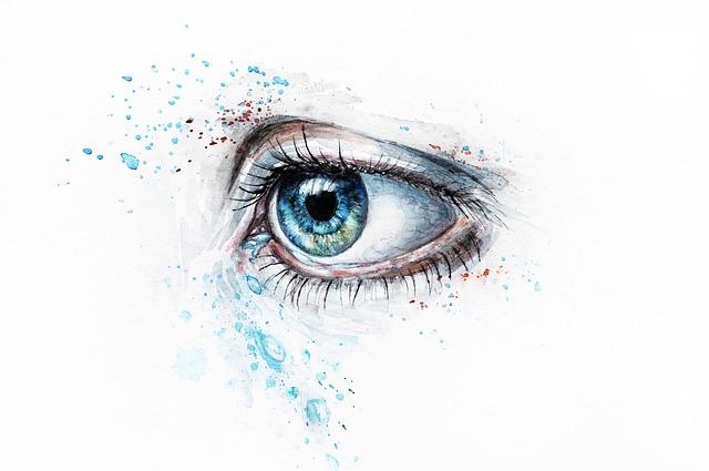 目 涙 泣く左目
